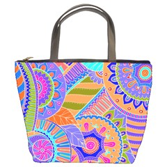 Pop Art Paisley Flowers Ornaments Multicolored 3 Bucket Bags