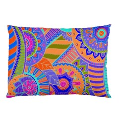 Pop Art Paisley Flowers Ornaments Multicolored 3 Pillow Case