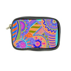 Pop Art Paisley Flowers Ornaments Multicolored 3 Coin Purse