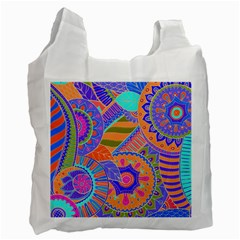 Pop Art Paisley Flowers Ornaments Multicolored 3 Recycle Bag (two Side)