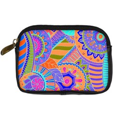 Pop Art Paisley Flowers Ornaments Multicolored 3 Digital Camera Cases