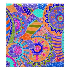 Pop Art Paisley Flowers Ornaments Multicolored 3 Shower Curtain 66  X 72  (large)