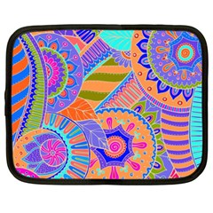 Pop Art Paisley Flowers Ornaments Multicolored 3 Netbook Case (xxl)