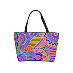 Pop Art Paisley Flowers Ornaments Multicolored 3 Shoulder Handbags