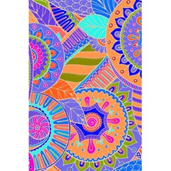 Pop Art Paisley Flowers Ornaments Multicolored 3 5 5  X 8 5  Notebooks