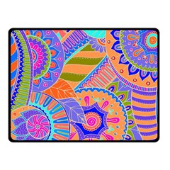 Pop Art Paisley Flowers Ornaments Multicolored 3 Fleece Blanket (small)