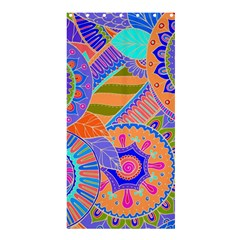 Pop Art Paisley Flowers Ornaments Multicolored 3 Shower Curtain 36  X 72  (stall)
