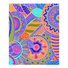 Pop Art Paisley Flowers Ornaments Multicolored 3 Shower Curtain 60  X 72  (medium)