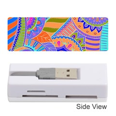 Pop Art Paisley Flowers Ornaments Multicolored 3 Memory Card Reader (stick)