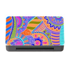 Pop Art Paisley Flowers Ornaments Multicolored 3 Memory Card Reader With Cf