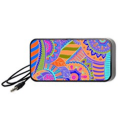 Pop Art Paisley Flowers Ornaments Multicolored 3 Portable Speaker