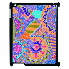 Pop Art Paisley Flowers Ornaments Multicolored 3 Apple Ipad 2 Case (black)