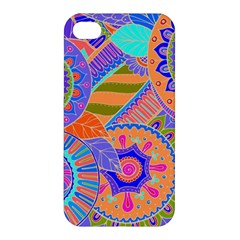 Pop Art Paisley Flowers Ornaments Multicolored 3 Apple Iphone 4/4s Hardshell Case