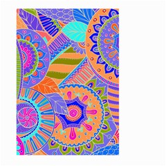 Pop Art Paisley Flowers Ornaments Multicolored 3 Large Garden Flag (two Sides) by EDDArt