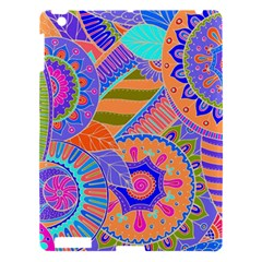 Pop Art Paisley Flowers Ornaments Multicolored 3 Apple Ipad 3/4 Hardshell Case
