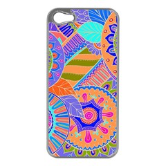 Pop Art Paisley Flowers Ornaments Multicolored 3 Apple Iphone 5 Case (silver)