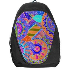 Pop Art Paisley Flowers Ornaments Multicolored 3 Backpack Bag