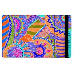 Pop Art Paisley Flowers Ornaments Multicolored 3 Apple Ipad 3/4 Flip Case
