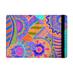 Pop Art Paisley Flowers Ornaments Multicolored 3 Apple Ipad Mini Flip Case