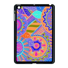 Pop Art Paisley Flowers Ornaments Multicolored 3 Apple Ipad Mini Case (black)