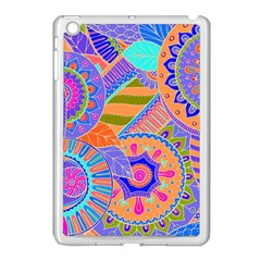 Pop Art Paisley Flowers Ornaments Multicolored 3 Apple Ipad Mini Case (white)