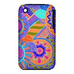 Pop Art Paisley Flowers Ornaments Multicolored 3 Iphone 3s/3gs