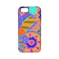 Pop Art Paisley Flowers Ornaments Multicolored 3 Apple Iphone 5 Classic Hardshell Case (pc+silicone)