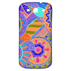Pop Art Paisley Flowers Ornaments Multicolored 3 Samsung Galaxy S3 S Iii Classic Hardshell Back Case