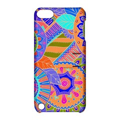 Pop Art Paisley Flowers Ornaments Multicolored 3 Apple Ipod Touch 5 Hardshell Case With Stand