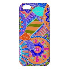 Pop Art Paisley Flowers Ornaments Multicolored 3 Apple Iphone 5 Premium Hardshell Case