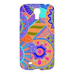 Pop Art Paisley Flowers Ornaments Multicolored 3 Samsung Galaxy S4 I9500/i9505 Hardshell Case