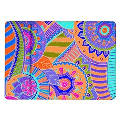 Pop Art Paisley Flowers Ornaments Multicolored 3 Samsung Galaxy Tab 10 1  P7500 Flip Case