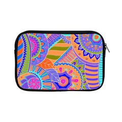 Pop Art Paisley Flowers Ornaments Multicolored 3 Apple Ipad Mini Zipper Cases by EDDArt