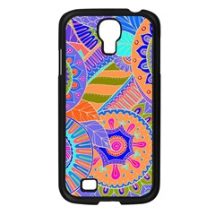 Pop Art Paisley Flowers Ornaments Multicolored 3 Samsung Galaxy S4 I9500/ I9505 Case (black)