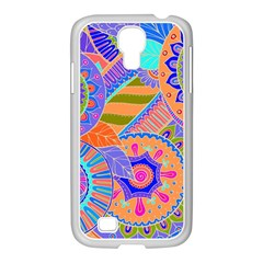 Pop Art Paisley Flowers Ornaments Multicolored 3 Samsung Galaxy S4 I9500/ I9505 Case (white)