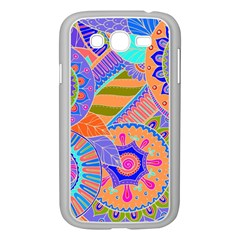 Pop Art Paisley Flowers Ornaments Multicolored 3 Samsung Galaxy Grand Duos I9082 Case (white)