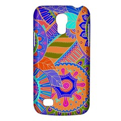 Pop Art Paisley Flowers Ornaments Multicolored 3 Samsung Galaxy S4 Mini (gt I9190) Hardshell Case