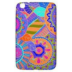 Pop Art Paisley Flowers Ornaments Multicolored 3 Samsung Galaxy Tab 3 (8 ) T3100 Hardshell Case