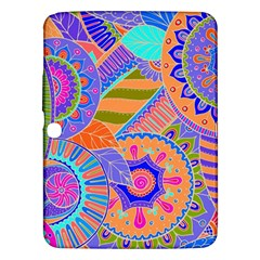 Pop Art Paisley Flowers Ornaments Multicolored 3 Samsung Galaxy Tab 3 (10 1 ) P5200 Hardshell Case