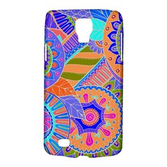 Pop Art Paisley Flowers Ornaments Multicolored 3 Samsung Galaxy S4 Active (i9295) Hardshell Case