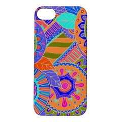Pop Art Paisley Flowers Ornaments Multicolored 3 Apple Iphone 5s/ Se Hardshell Case