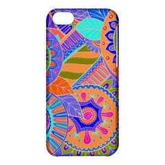 Pop Art Paisley Flowers Ornaments Multicolored 3 Apple Iphone 5c Hardshell Case