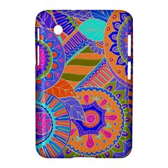 Pop Art Paisley Flowers Ornaments Multicolored 3 Samsung Galaxy Tab 2 (7 ) P3100 Hardshell Case