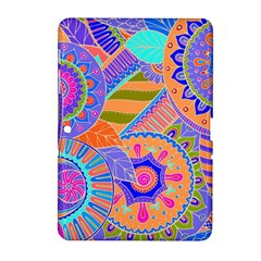 Pop Art Paisley Flowers Ornaments Multicolored 3 Samsung Galaxy Tab 2 (10 1 ) P5100 Hardshell Case