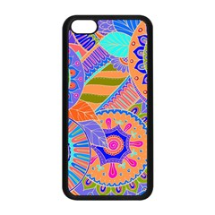 Pop Art Paisley Flowers Ornaments Multicolored 3 Apple Iphone 5c Seamless Case (black)