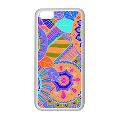 Pop Art Paisley Flowers Ornaments Multicolored 3 Apple Iphone 5c Seamless Case (white)