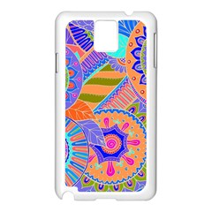 Pop Art Paisley Flowers Ornaments Multicolored 3 Samsung Galaxy Note 3 N9005 Case (white)