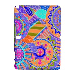Pop Art Paisley Flowers Ornaments Multicolored 3 Samsung Galaxy Note 10 1 (p600) Hardshell Case