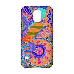 Pop Art Paisley Flowers Ornaments Multicolored 3 Samsung Galaxy S5 Hardshell Case  by EDDArt
