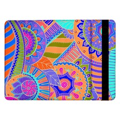 Pop Art Paisley Flowers Ornaments Multicolored 3 Samsung Galaxy Tab Pro 12 2  Flip Case